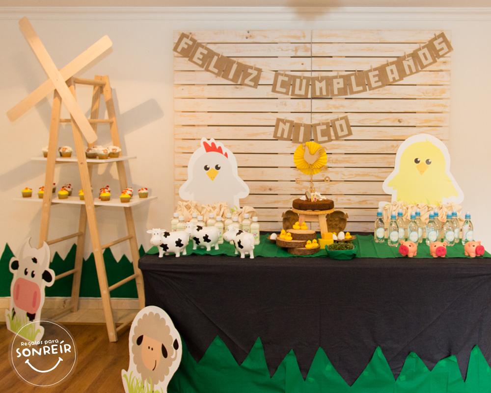 Cumplea os animales de granja decoraci n regalos para sonre r - Decoracion mesa salon ...