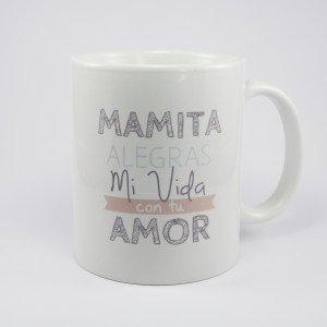 Taza de ceramica con mensaje